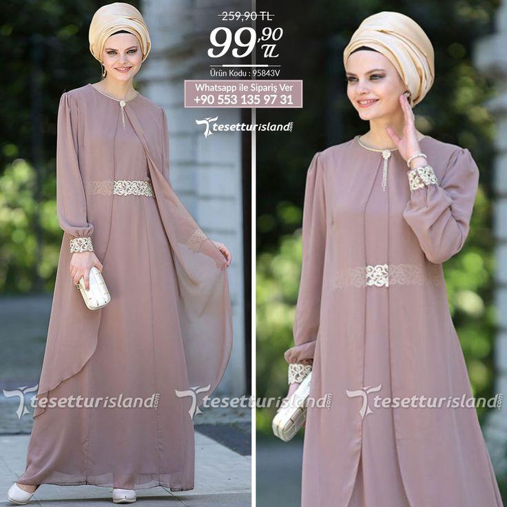 Nayla Collection - Tüllü Dantel Detaylı Vizon Elbise #tesettur #tesetturabiye #tesetturgiyim #tesetturelbise #tesetturabiyeelbise #kapalıgiyim #kapalıabiyemodelleri #şıktesetturabiyeelbise #kışlıkgiyim #tunik #tesetturtunik
