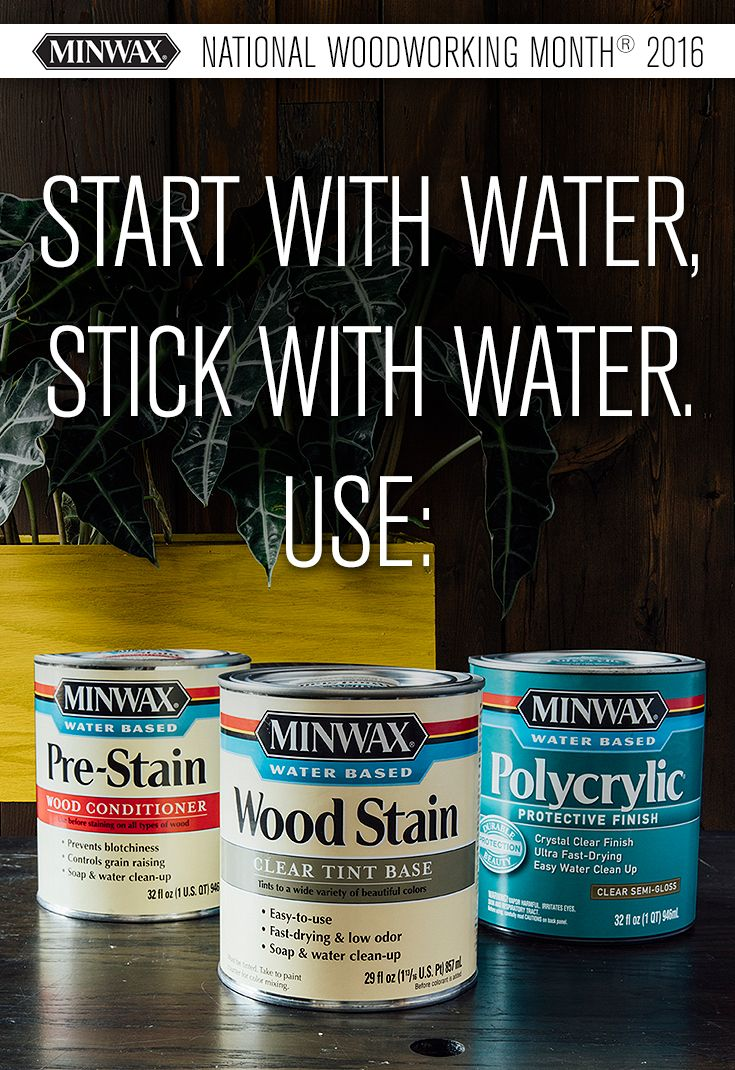 One of the most important rules for using Minwax® on a #DIY project is to pay attention to your bases. If you're using a water-based stain, for example, you should stick with a water-based protective finish to avoid an uneven application and finish. Ready to try it yourself?