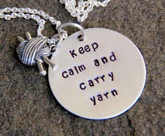 Knitting KNitting Keep Calm and Carry Yarn by whiteliliedesigns, $49.00