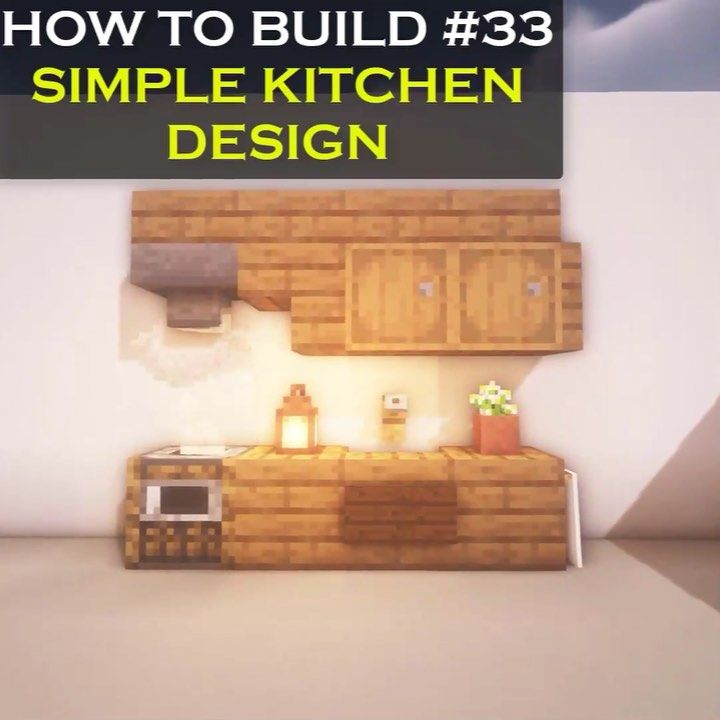 Vexelville On Instagram Here S A New Minecraft Interior Tutorial For Designing A Simple K Minecraft Designs Minecraft Interior Design Minecraft Kitchen Ideas