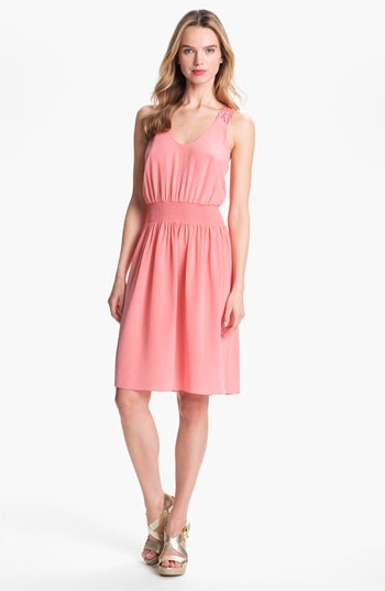 Rebecca taylor silk blouson dress nordstrom cloth for Nordstrom women s wedding guest dresses