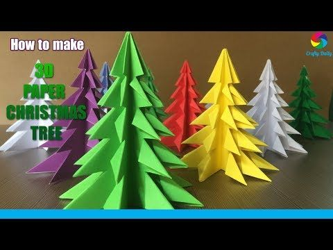 (965) 3D Paper Christmas Tree | How to Make a 3D Paper Xmas Tree DIY Tutorial - YouTube