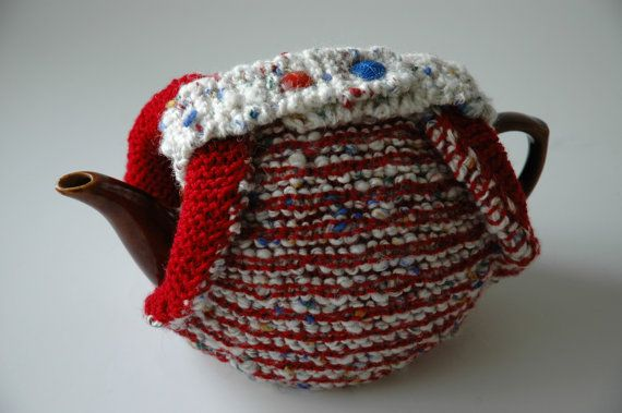 Wool tea cosy double thickness chunky knit by KororaCrafters