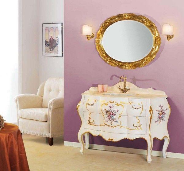 Piesse julia mobile bagno stile veneziano mobile bagno antico arredamento la casa che vorrei - Stile barocco mobili ...