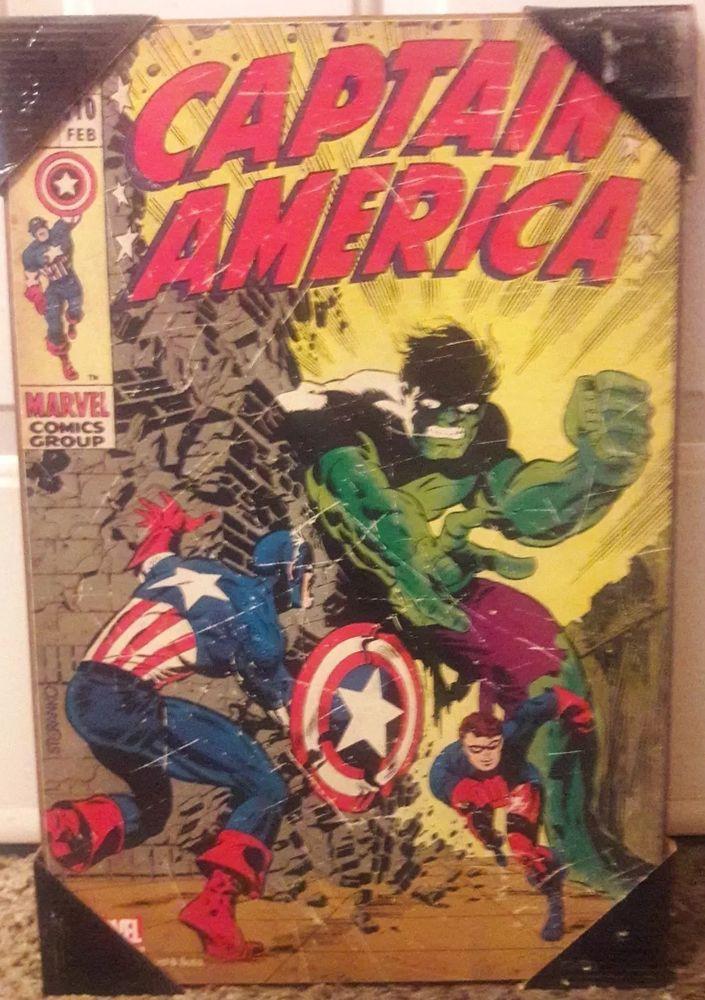 Marvel Comics Captain America 110 Wooden Wall Art 19 X 13 Egaming