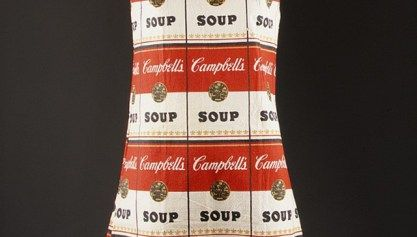 The Souper Dress, A Warhol-Inspired Pop Art Paper Dress by Campbell's Soup Company