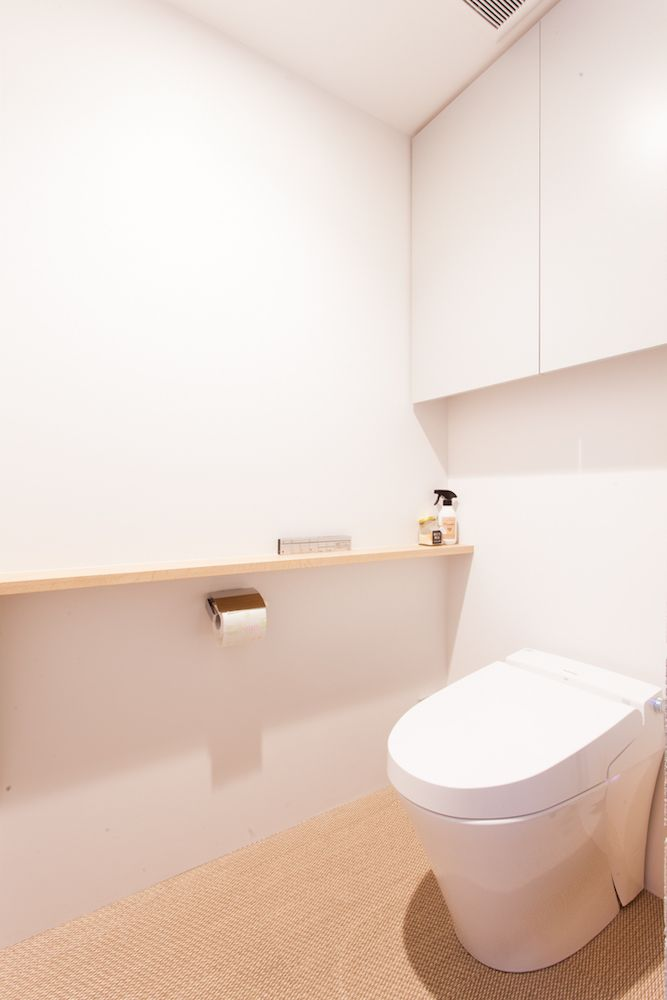 トイレ Toilet トイレ収納 トイレットペーパーホルダー 棚 Toto Panasonic Advan Bolon リノベーション Ecodeco エコデコ 渡辺様邸西葛西 トイレ 収納 棚 トイレのアイデア トイレのデザイン