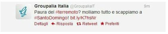 Terremoto Groupalia Italia - #EpicFail