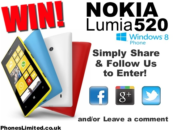 May #Competition - #WIN a Nokia Lumia 520 Window Phone #RT #Follow