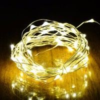 Wish | 16.4ft  50 LEDS Waterproof Led  Xmas Lights Party Wedding Halloween Decor Battery Operated Starry String Fairy Light