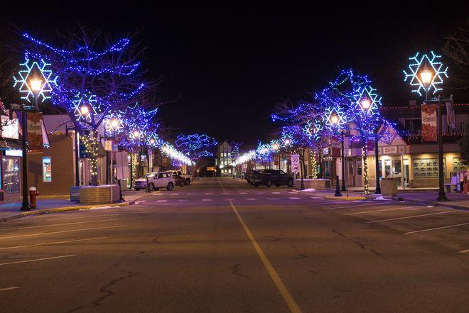 Christmas light Summerland, BC