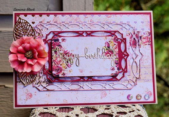 Fancy Birthday Card Handmade Birthday Card Handmade Shabby