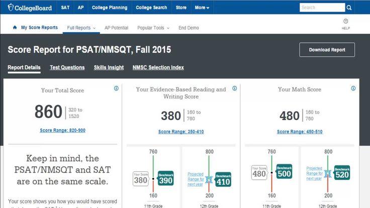 The New PSAT - Understanding Your Online Score Report