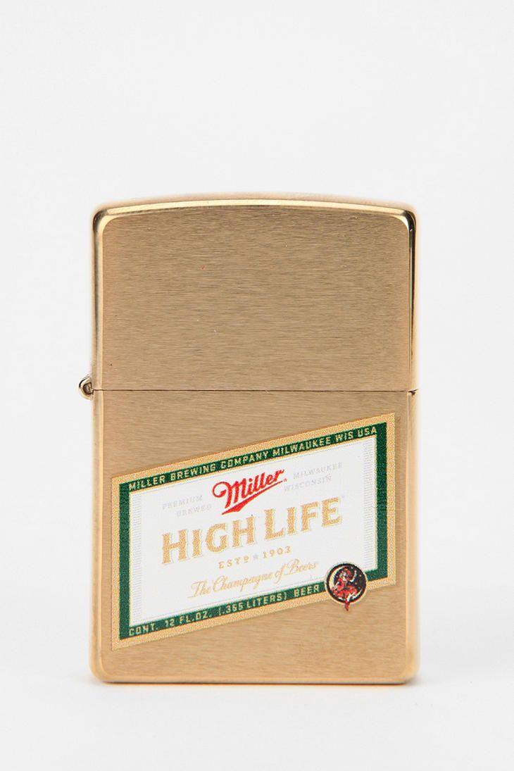 Miller High Life Zippo Lighter  #UrbanOutfitters $24