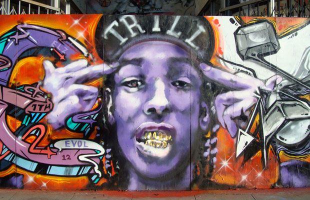 Street Art. ASAP Rocky
