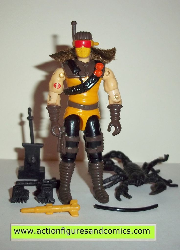 Hasbro toys G I JOE vintage gijoe action figures for sale to buy 1991 DESERT SCORPION 100% COMPLETE condition: excellent collecter condition, nice paint, nice joints, no broken, damaged, or missing pa