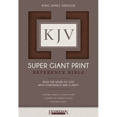 KJV Super Giant Print Reference Bible, flexisoft brown, thumb indexed