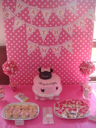 Hostess with the Mostess - Baby Minnie Mouse first birthday party