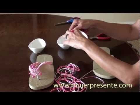 Manualidades con Beatriz Guajardo, Sandalias playeras - YouTube