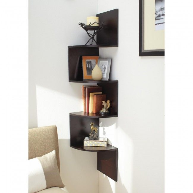 Looking for more storage room? No need to worry. Just add an interesting twist to a corner in your home. This unique wall shelf is perfect for additional storage space.