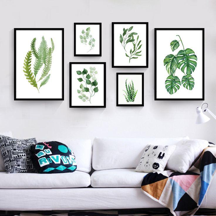 Современные Печать на Холсте Плакат Холст Масляной Живописи по Номерам Зеленые…