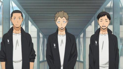 3 of my fav HQ! characters =3 Narita Kazuhito, Kinoshita Hisashi, & Ennoshita Chikara