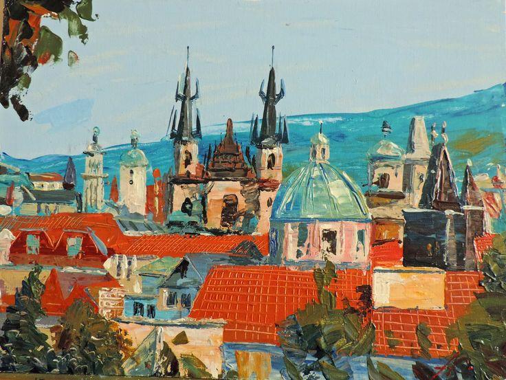 Прага крыши.