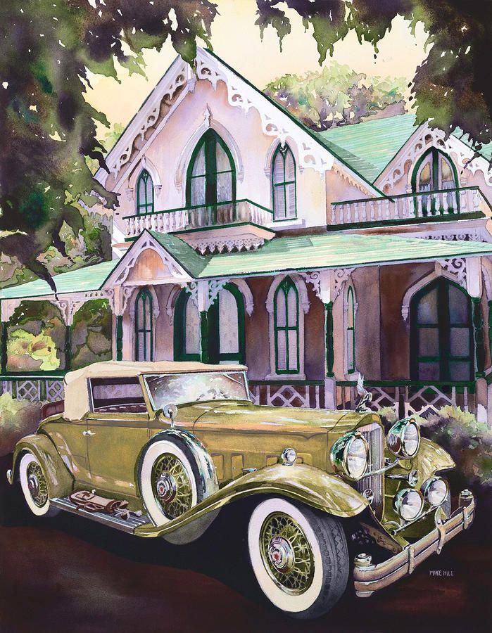 Packard Golf and Greens Painting by Mike Hill - Packard Golf and Greens Fine Art Prints and Posters for Sale