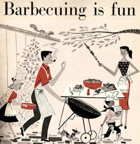 retro BBQ'n in the good ole' summertime!