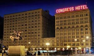 Groupon - Stay at The Congress Plaza Hotel in Chicago's Loop, with Dates into March in Chicago. Groupon deal price: $109