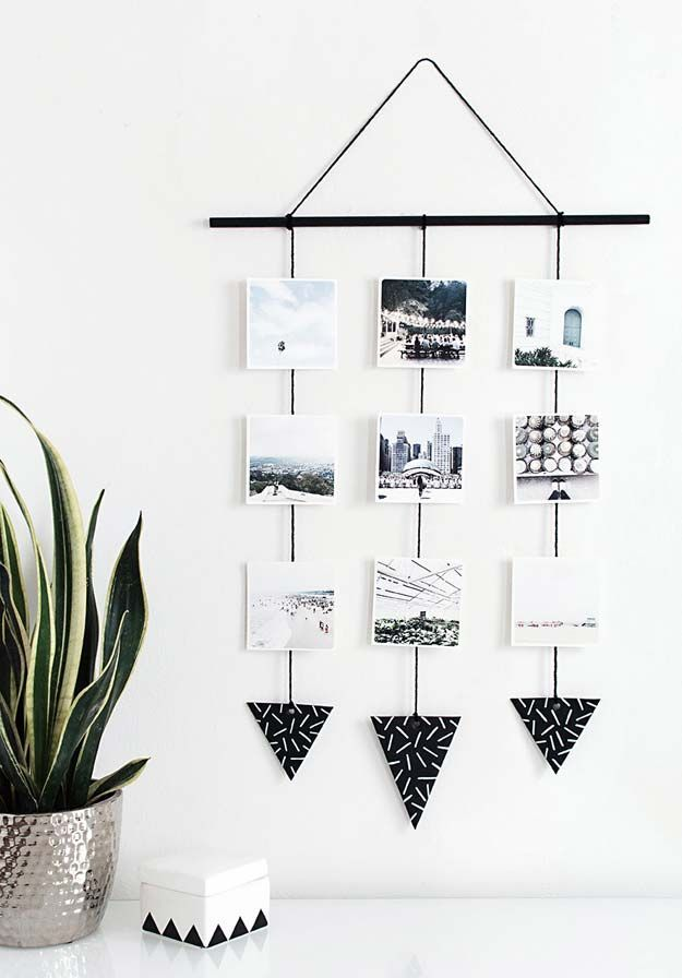 Cool DIY Photo Projects and Craft Ideas for Photos - Photo Hanging Wall - Easy Ideas for Wall Art, Collage and DIY Gifts for Friends. Wood, Cardboard, Canvas, Instagram Art and Frames. Creative Birthday Ideas and Home Decor for Adults, Teens and Tweens