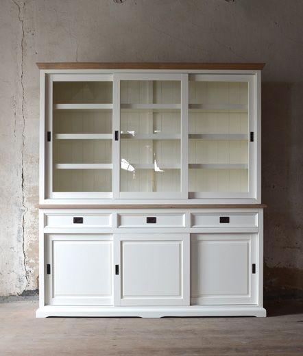 white oak glass-case