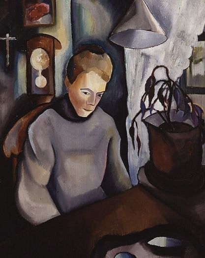 Woman in bedroom, 1918, Charley Toorop. Dutch (Daughter of Jan Toorop) (1891 - 1955)