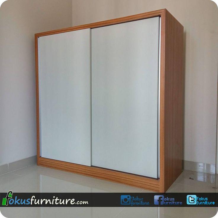 """33 Suka, 1 Komentar - Furniture custom minimalis (@fokusfurniture) di Instagram: """"Lemari 2 pintu geser di Residence8 Ciracas  #Lemari #residence8 #ciracas #lemariminimalis…"""""""