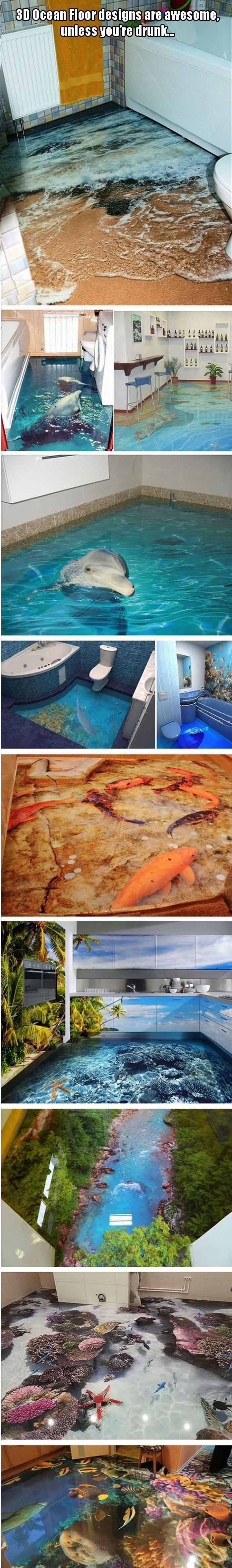 3D Ocean Floor Designs Are Awesome Unless Youre Drunk 10 Pics