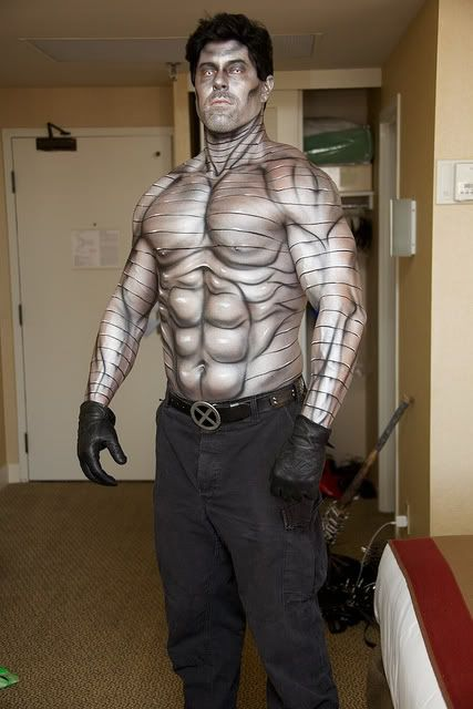 X-men Cosplay ColossusSuperhero Body, Awesome Cosplay, Body Painting Cosplay, Amazing Cosplay, Cosplay Costumes, Xmen Cosplay, Art Body, Colossus Body, Colossus Cosplay