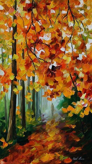 Leonid Afremov   Foggy Forest