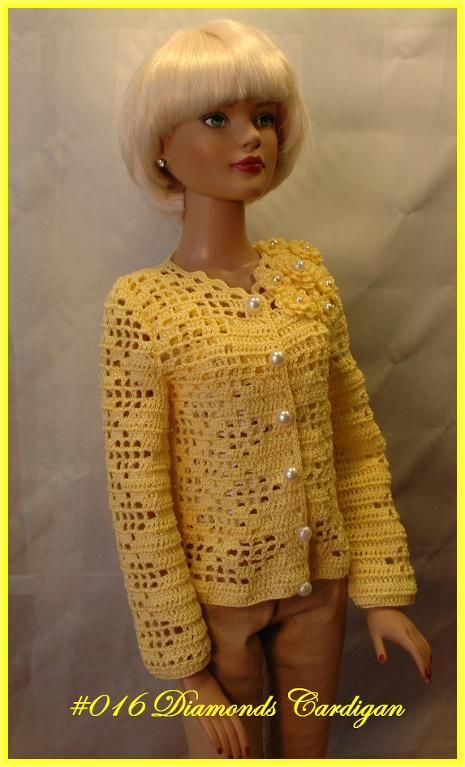 "9 best Crochet patterns 22"" fashion doll clothing images ..."