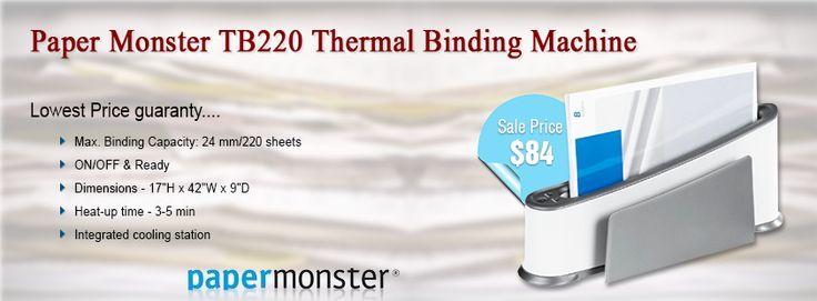 #Paper #Monster #TB220 #Thermal #Binding #Machine ☛ http://www.shopofficemachines.com/Paper-Monster-Thermal-Binding-Machine/dp/B007V95K7Q