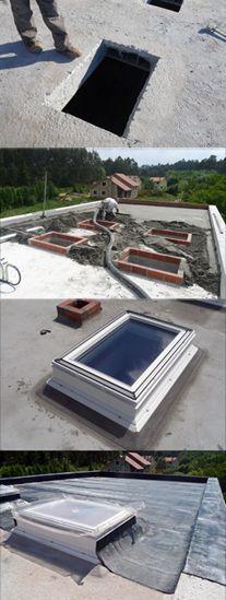 instalción Velux cubierta plana