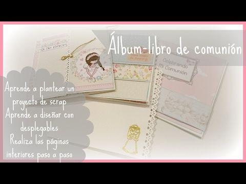 Tutorial álbum-libro comunión. Parte 1: diseñar y realizar el interior. Serie de estructuras cap 5. - YouTube
