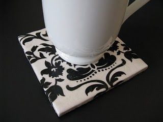 "Create Cool Coasters- Use a (4) 4"" ceramic tiles from a hardware store of any color (white works best) and use rub-on stencils with Christmas designs, festive verbiage or even monogram letters to use on each tile. Once finished you can spray with a glaze gloss to seal it. You'll want to put some self-adhesive felt or little rubber feet on the bottom so the coasters won't scratch the table. Walmart is a great place to find the felt material."