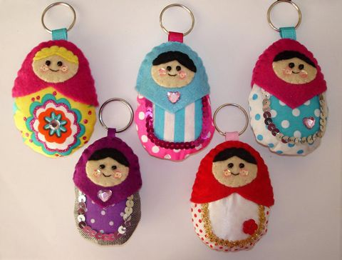 cute felt Russian doll keychains: Dolls Matryoshka, Felt Crafts, Keys Rings, Russian Dolls, Matrushka Dolls, Dolls Rings, Crafts Felt, Dolls Keychains, Felt Russian