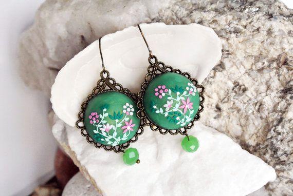 Jade Green Earrings seafoam green earrings door LandOfJewellery