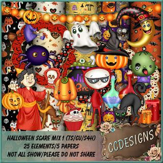 """CCDesigns: New In Store's """"Halloween Scare Mix 1"""" (TS/CU/S4H)..."""
