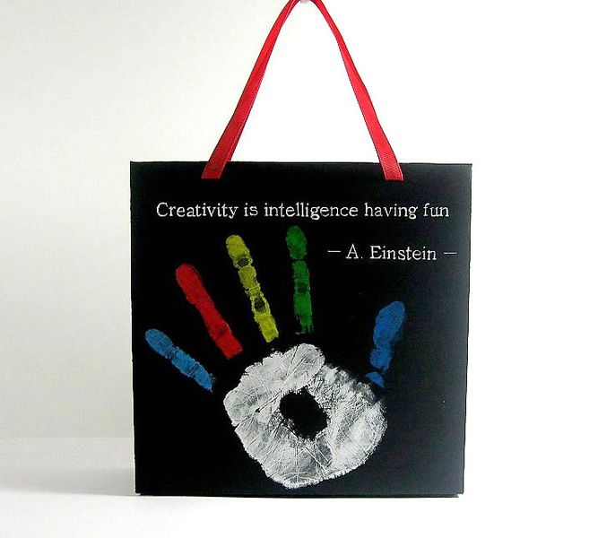 Christmas Gifts – Paper Gift Bag  Box Package Black Creativity  – a unique product by DressYourGift on DaWanda