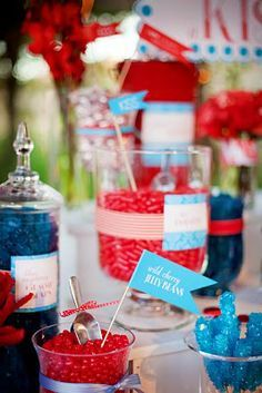 Red Candy Bars on Pinterest | Rainbow Candy Bars, Red Candy Buffet ...