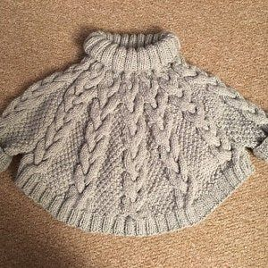 Knitting Pattern – Temptation Poncho and Hat Set (Toddler and Child sizes) in English and French