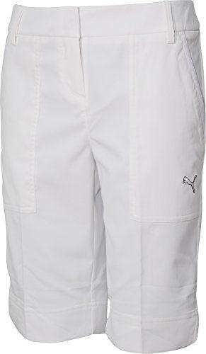 UK Golf Gear - Puma Tech Ladies Golf Shorts - White