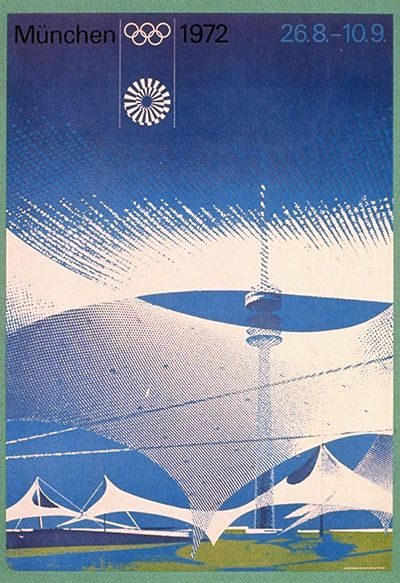 Munich Olympics poster, 1972. Add Around The Rings on www.Twitter.com/AroundTheRings & www.Facebook.com/AroundTheRings for the latest info on the Olympics.